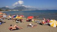 Beach in Alanya, Turkey Stock Footage
