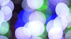 Abstract light patterns coloured bulbs Stock Footage