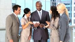 Multi Ethnic Business Team Using Modern Technology Stock Footage