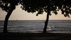 Hawaiian Sunset 1445 Stock Footage