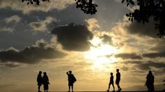 Sunset Activity Stock Footage