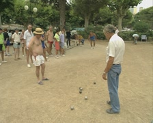 Playing Boules Stock Footage