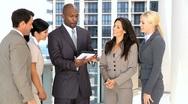 Multi Ethnic Male & Female Business Team Stock Footage