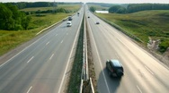 Stock Video Footage of cars traveling on the highway - timelapse