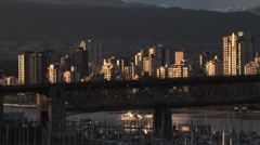 Sunset Vancouver Downtown - stock footage