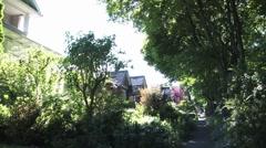 Peacful neighbourhood Stock Footage
