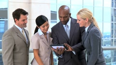 Successful Multi Ethnic Business Team Stock Footage
