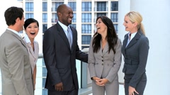Modern Multi Ethnic Business Team Meeting Together Stock Footage