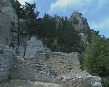 Saint Hilarion Castle Kyrenia Stock Footage