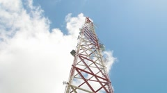 Radio-TV Antenna viewed from below Stock Footage
