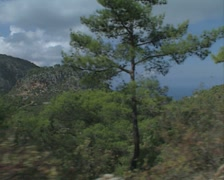 Driving through the hills near Kyrenia Stock Footage