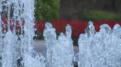 Slow motion water fountain - stock footage