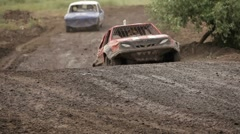 Racing in the absence of roads - stock footage