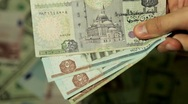Currency Exchange Rates, Foreign Money Converter, Egyptian Pound EGP Stock Footage