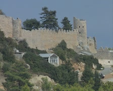 St Hilarion Castle Kyrenia zoom out Stock Footage