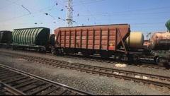 Russian Railway Yard Stock Footage