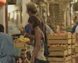Shoppers in a market in Nicosia Footage