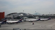 Stock Video Footage of Sheremetyevo Airport Moscow