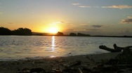 Puerto Rico - Lagoon at deserted island at sunrise with audio Stock Footage