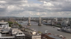 Monument View Tower Bridge London Time lapse - stock footage