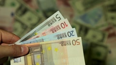 Currency Exchange Rates, Foreign Money Converter, Romanian New Leu RON - stock footage