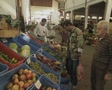 Men shopping in the market SD Footage