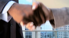Handshake Between Multi Ethnic Business People Stock Footage
