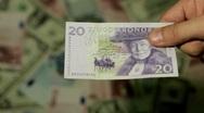 Currency Exchange Rates, Foreign Money Converter, Swedish Krona SEK Stock Footage