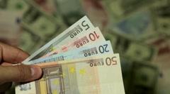 Currency Exchange Rates, Foreign Money Converter, Swedish Krona SEK - stock footage