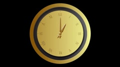 Clock time lapse loop Stock Footage