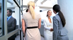 Meeting of Four Multi Ethnic Business Executives Stock Footage