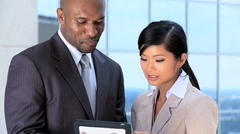 African American & Asian Chinese Business Team Stock Footage