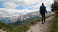 Stock Video Footage of hike in the Alps