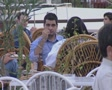 People eating at an outdoor restaurant SD Footage