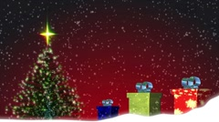 3D Christmas Scene Stock Footage