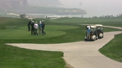 Playing golf in China Stock Footage