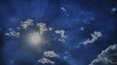 Clouds hdr Stock Footage