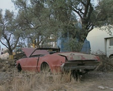Stock Video Footage of Old rusting car