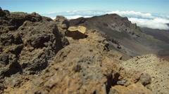 Stock Video Footage of Haleakala Volcano Vista 02