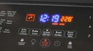Digital Oven Controls On A Modern Stove Cooker Stock Footage