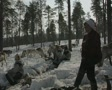 A Finnish reindeer herder sings to the reindeer SD Footage