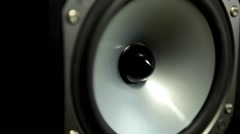 Stock Video Footage of Party, Black Loud Speaker, Music Loud, Hi-Fi, Decibels, Noise, Loudness