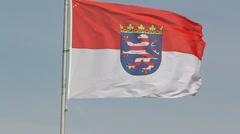 Hessen flag - stock footage