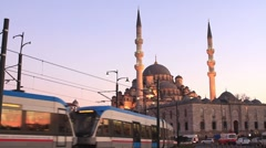 Evening pray in Istanbul - stock footage
