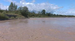 Muddy river 1 Stock Footage