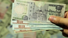 Payment, Loan or Borrow Money Cash, Salary, Tax, Income, Egyptian Pound EGP Stock Footage