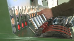 Signals and track control console Stock Footage