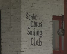 Santa Claus Sailing Club Stock Footage