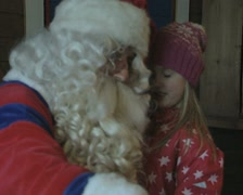 Saint Nick with a little girl Stock Footage