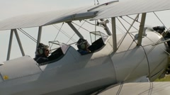 Aircraft, Boeing Stearman biplane taxi, #2 Stock Footage